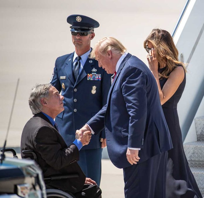 Donald Trump Visits Border With Texas Governor Greg Abbott