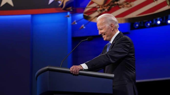 Biden Laughs Off Latest Poll Numbers